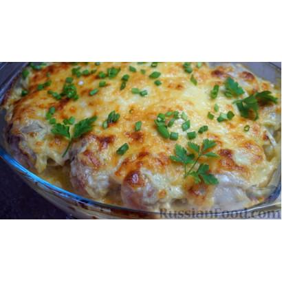 Курица, запеченная с картофелем и сыром, по-французски